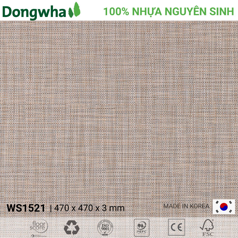 Sàn nhựa Dongwha WS1521 Woven – 3mm