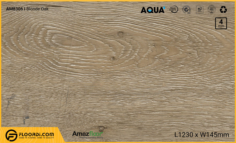 Sàn nhựa Amazfloor Am8306 Blonde Oak – 4mm