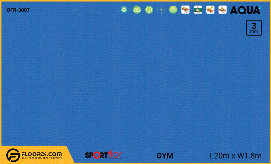 Sàn phòng gym PVC – DFR-3007