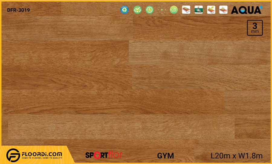 Sàn phòng gym PVC – DFR-3019