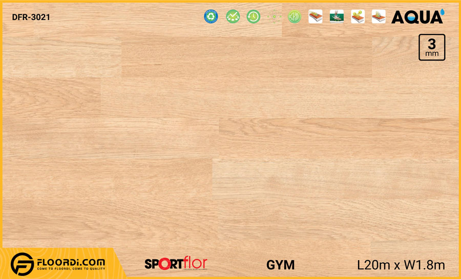 Sàn phòng gym PVC – DFR-3021