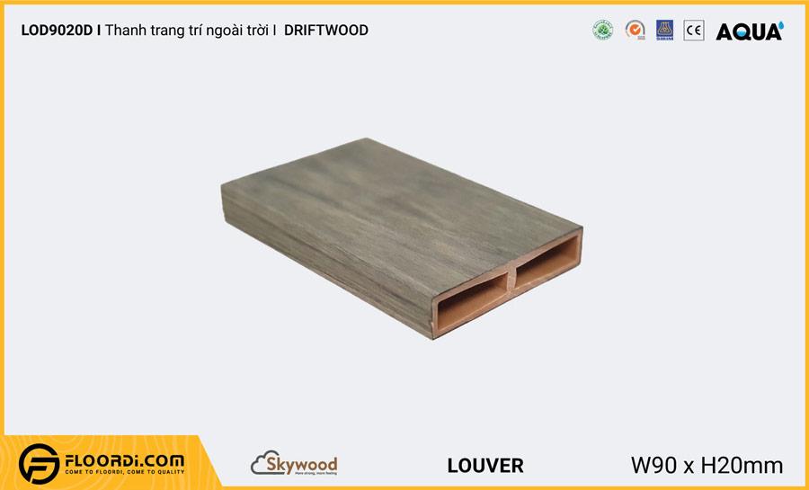 Lam gỗ trang trí ngoài trời mẫu hình chữ nhật Louver LOD9020D