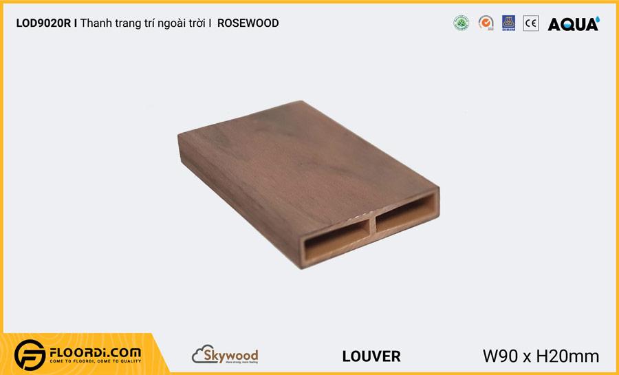 Lam gỗ trang trí ngoài trời mẫu hình chữ nhật Louver LOD9020R