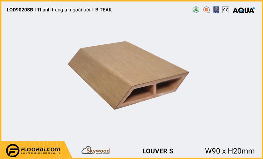 Lam gỗ trang trí ngoài trời vát cạnh Louver LOD9020SB