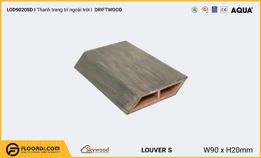 Lam gỗ trang trí ngoài trời vát cạnh Louver LOD9020SD