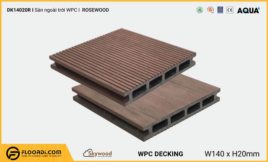 Sàn ngoài trời WPC Skywood Rosewood DK14020R