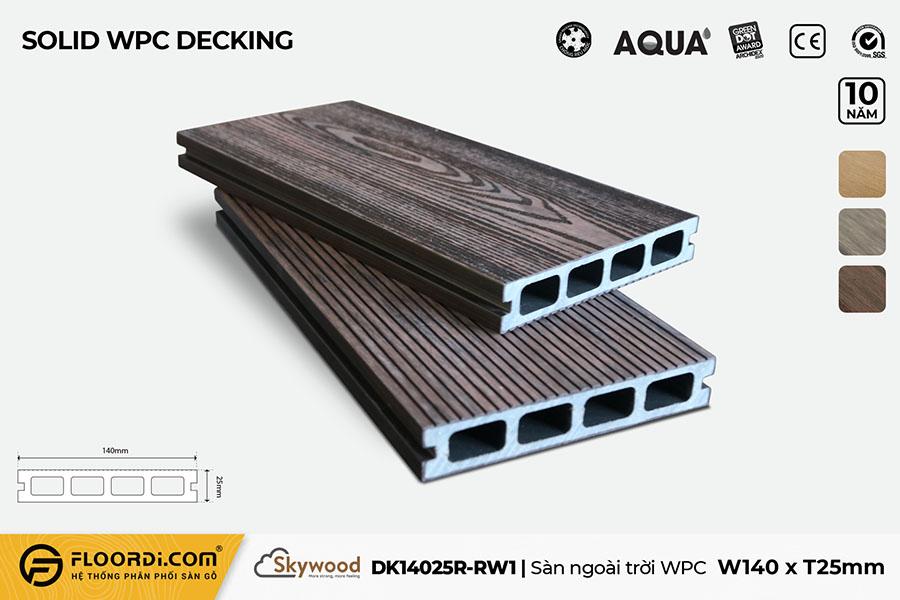Sàn ngoài trời WPC Skywood – Rosewood – DK14025R-RW01