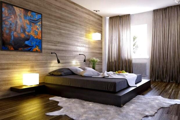 Sàn gỗ có thể được dùng để ốp tường