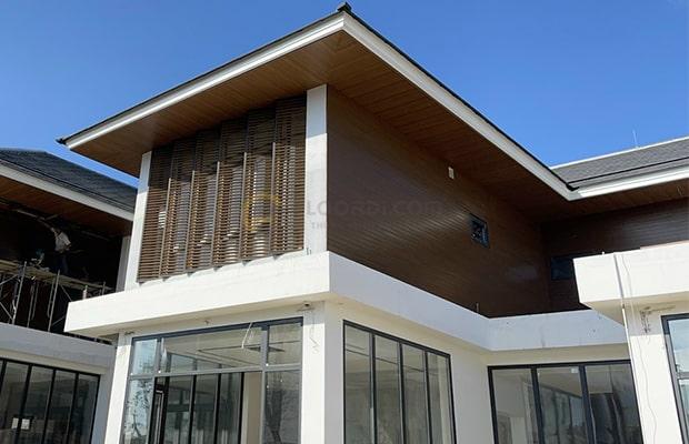 Lam sóng gỗ nhựa ốp tường nội thất