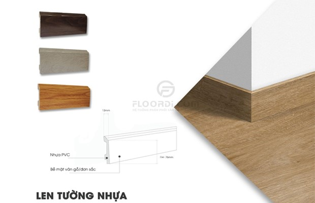 Nẹp gỗ chân tường