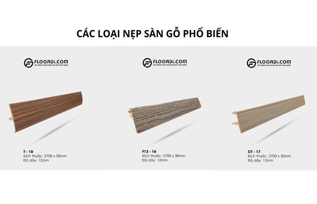 Các loại nẹp sàn gỗ phổ biến
