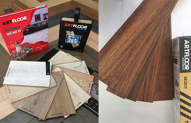 Sàn gỗ Châu Âu Artfloor sở hữu hai quy cách độ dày là 8mm và 10mm