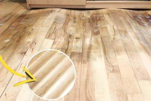 xử lý sàn gỗ bị phồng rộp, cong vênh