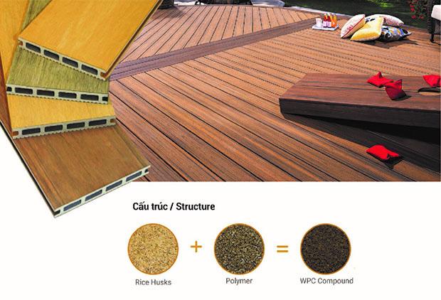 Sàn gỗ ngoài trời Skywood với cấu trúc đặc biệt
