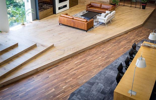 Sàn gỗ Sồi Oak là vật liệu ốp lát nội thất