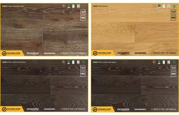 Sàn gỗ Sồi trắng là loại phổ biến