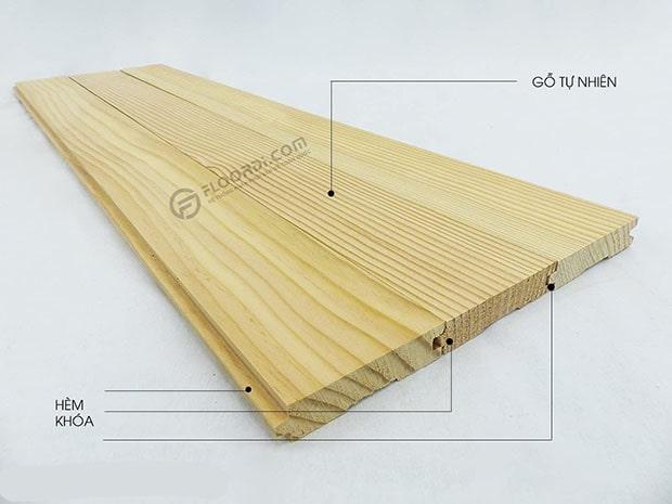 Cấu tạo ván gỗ tự nhiên solid nguyên tấm