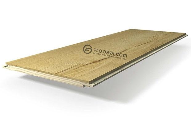 Độ dày tiêu chuẩn của ván sàn tự nhiên dao động từ 13 – 18mm
