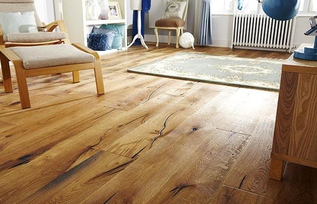 Sàn nhà gỗ tự nhiên với bề mặt đạt đến đỉnh cao của sự chân thực