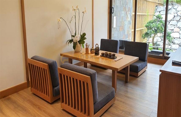 Công trình ốp sàn gỗ Floorpan góp phần mang lại vẻ đẹp tuyệt vời cho khu du lịch Yoko
