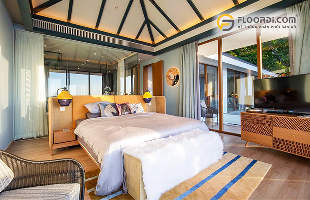Ốp sàn gỗ cho phòng ngủ đã trở nên phổ biến