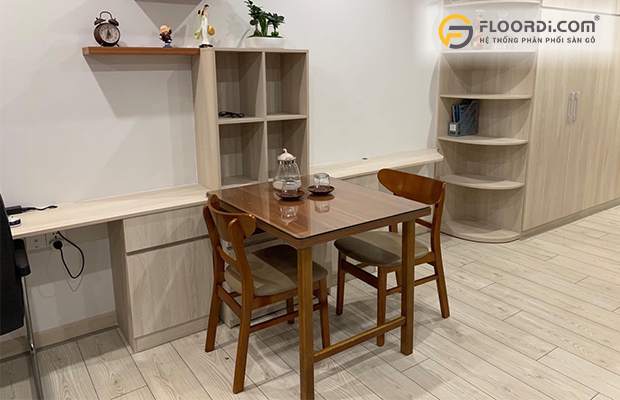 Cốt gỗ HDF mang lại độ bền cao cho ván sàn