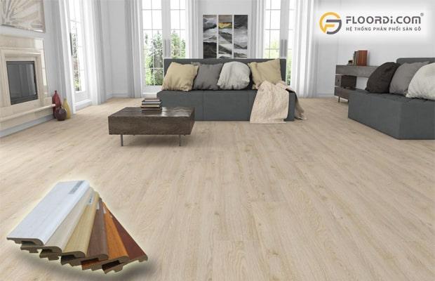 ốp chân tường bằng gỗ