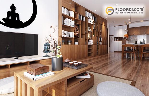 Sàn gỗ màu trung tính