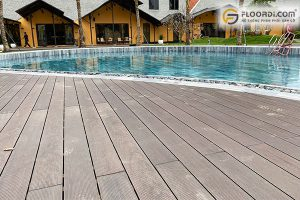 Sàn gỗ nhựa hồ bơi