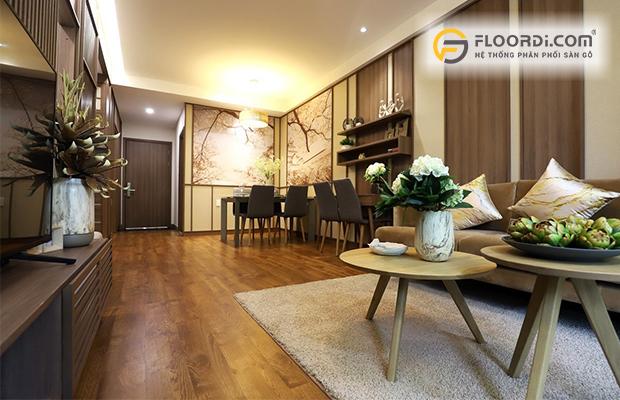 Lựa chọn sàn gỗ phù hợp với không gian phòng khách