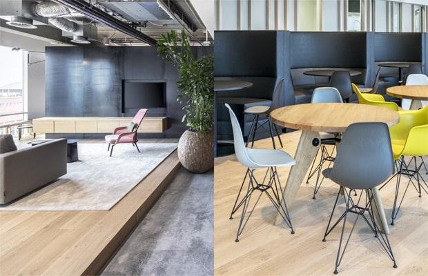 sàn gỗ công nghiệp lát văn phòng