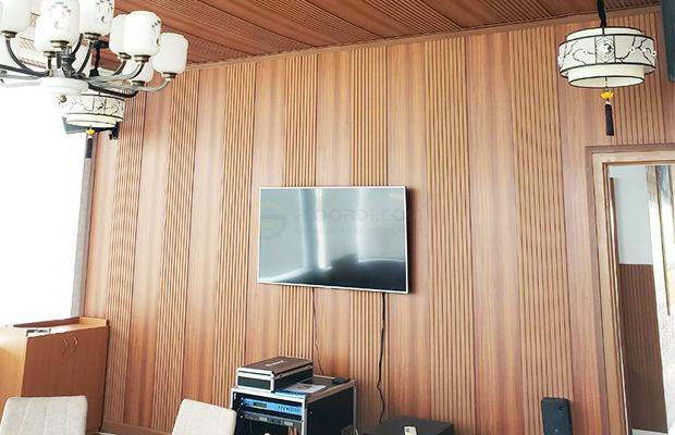 trang trí tường bằng gỗ