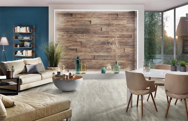 Trang trí phòng khách bằng gỗ cổ điển