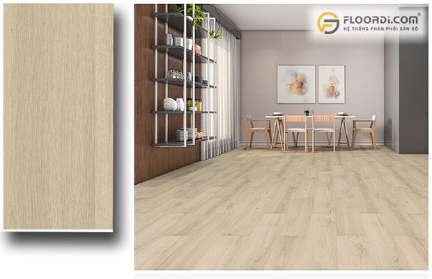Scandinavian kết hợp với sàn gỗ màu sáng