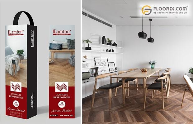 Lamton thương hiệu sàn gỗ công nghiệp xương cá được đánh giá cao