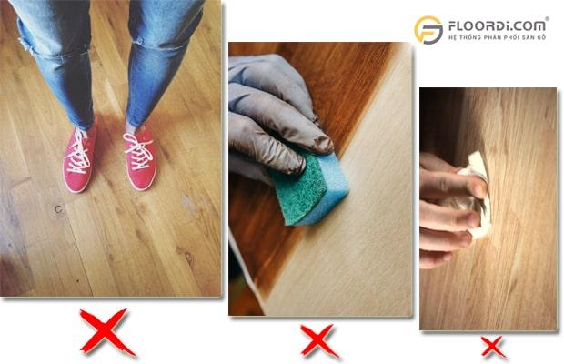 kiểm tra khả năng chịu trầy xước ở sàn gỗ