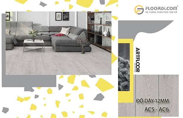 Ván sàn có độ dày 12mm tương thích với chỉ số AC đạt mức AC5 - AC6