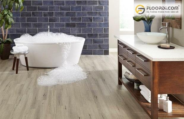 Sàn gỗ nhựa cao cấp cho khả năng chịu nước 100%