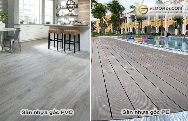 phân biệt gỗ nhựa PVC và PE
