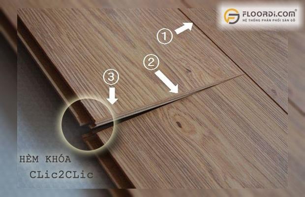 Các loại sàn bình dân thường sử dụng hệ hèm Clic2Clic