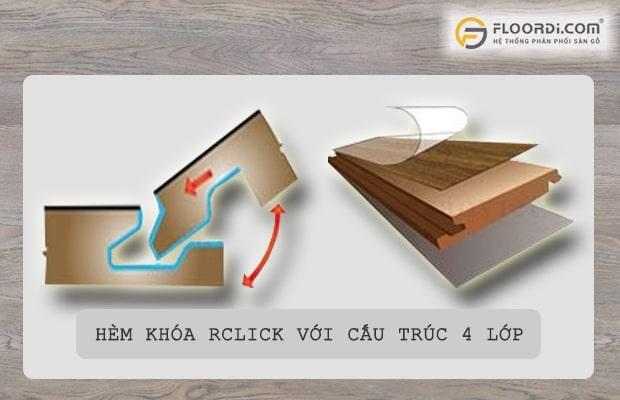 RClick là loại hèm có độ liên kết cao nhưng rất khó lắp đặt
