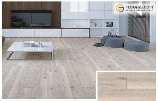 Lát sàn gỗ theo chiều dài căn phòng
