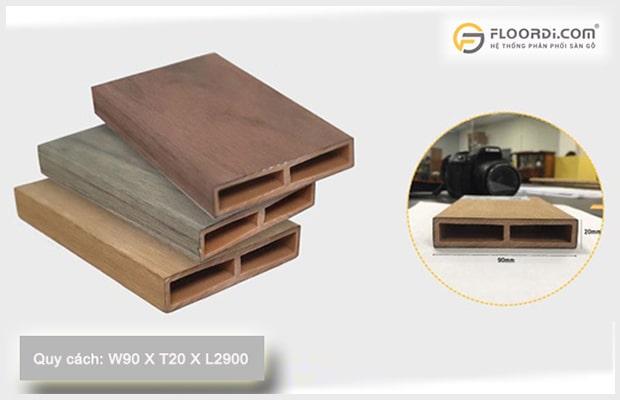 Kích thước lam nhựa giả gỗ