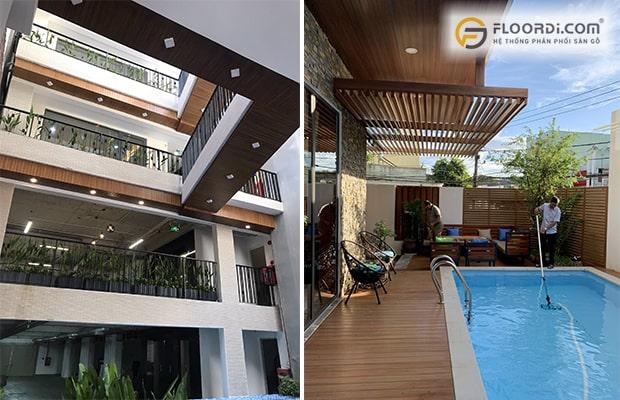 Lam gỗ trang trí được ứng dụng rộng rãi cho phòng khách hiện đại