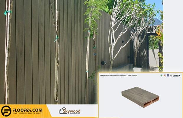 Lam gỗ còn được cải tiến làm hàng rào