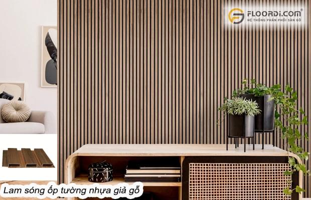 Lam sóng gỗ nhựa trang trí tường