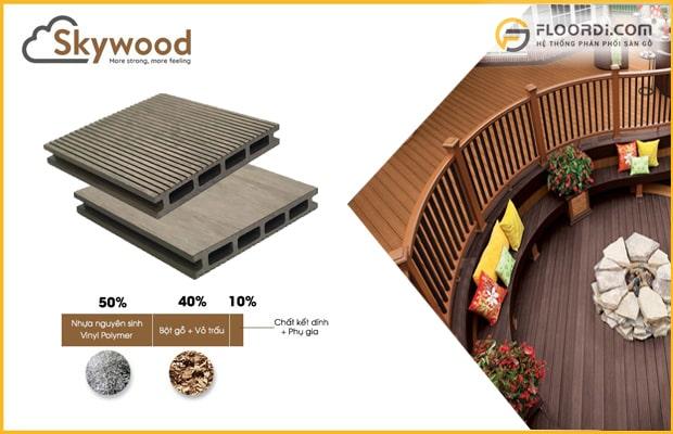 Nên chọn sàn gỗ sân vườn có chất liệu tốt