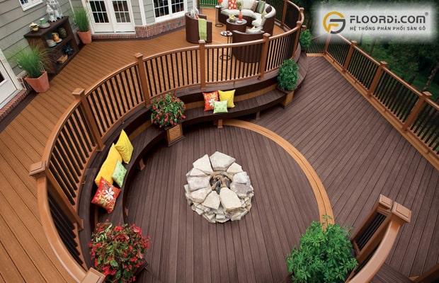 Nên chọn sàn gỗ sân vườn có khả năng chống nước