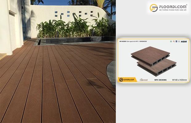 Skywood là sản phẩm chuyên dụng cho khu vực ngoài trời như sân vườn