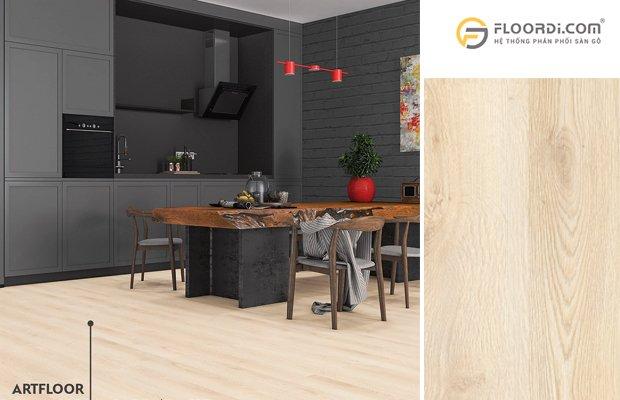 Lựa chọn sàn gỗ cho khu vực nhà bếp